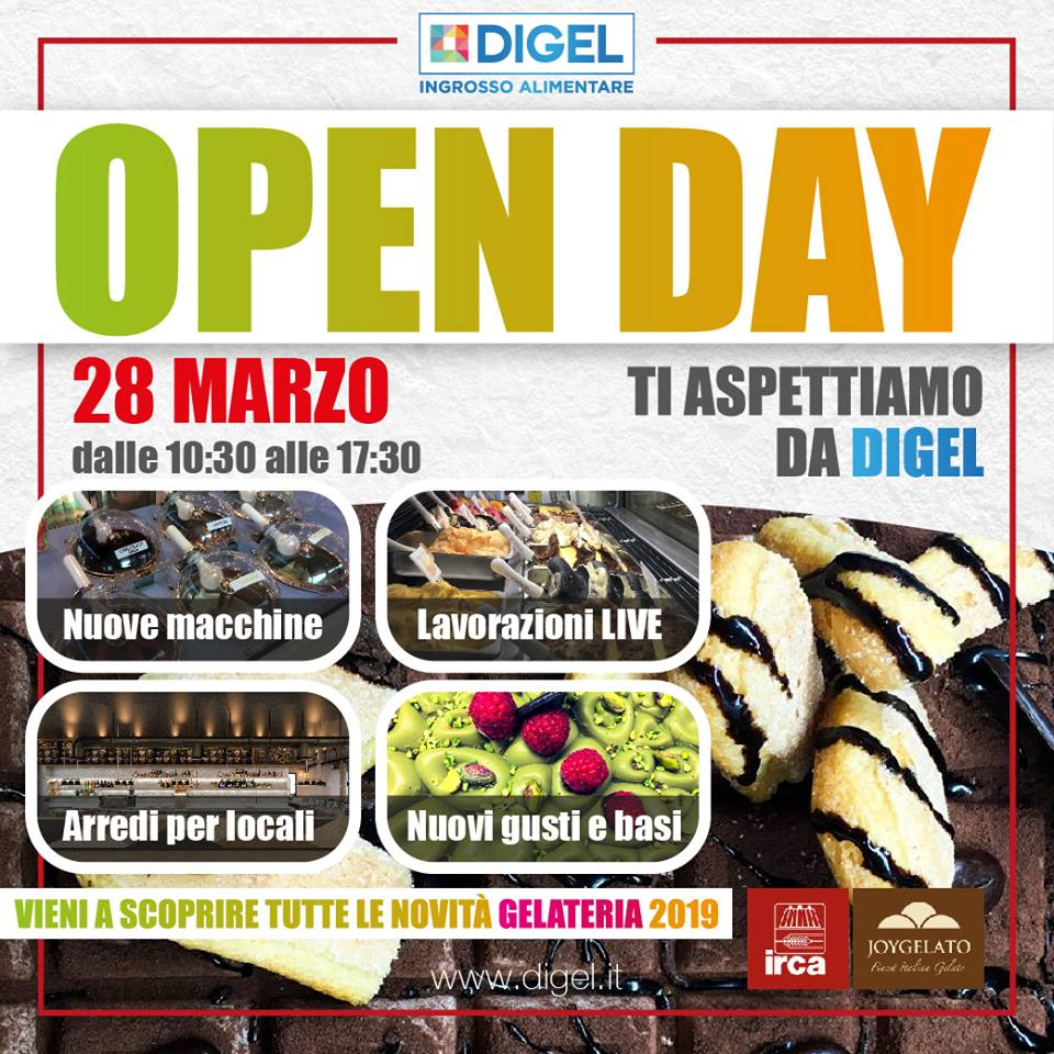 Open Day Irca Joy Gelato da Digel