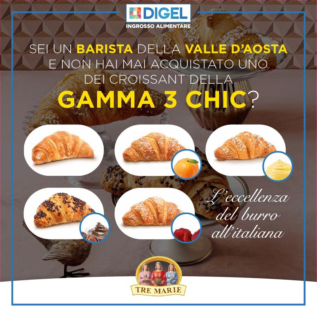 Offerta Croissant 3Chic Le Tre Marie