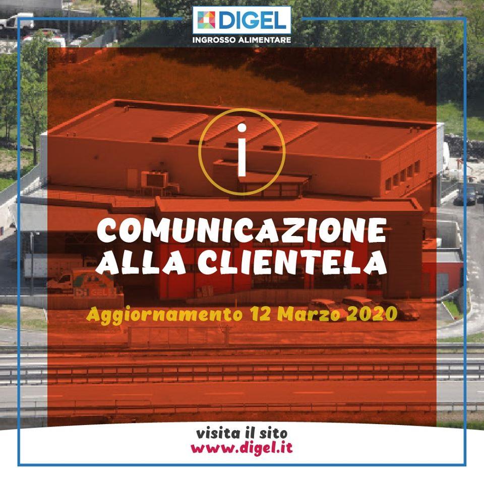 Aggiornamento 12 Marzo: comunicazione alla clientela